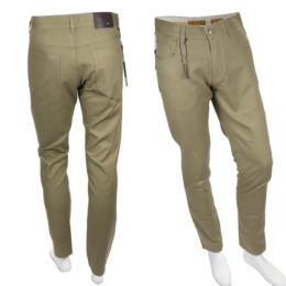 Khaki Enzo denim jeans slim fit