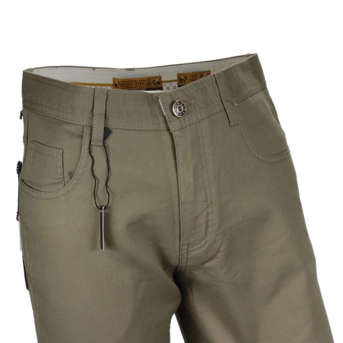 Khaki Enzo denim jeans slim fit