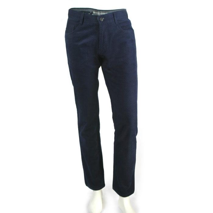 Enzo denim jeans blue velvet square patterned front full image