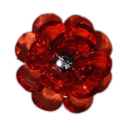 lapel flower red men accessory