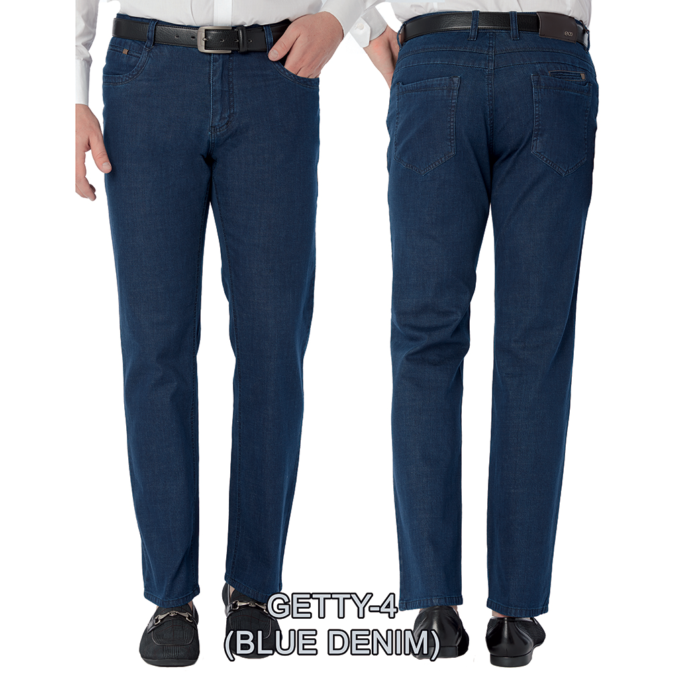 Enzo denim jeans Blue getty 4