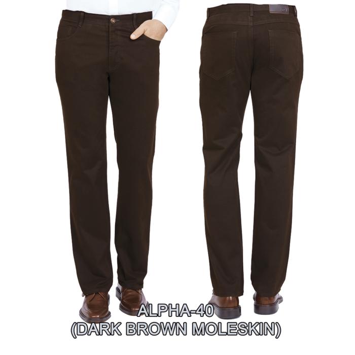 Enzo denim jeans dark Brown alpha 40