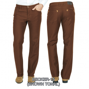 Enzo denim jeans Brown becker 15