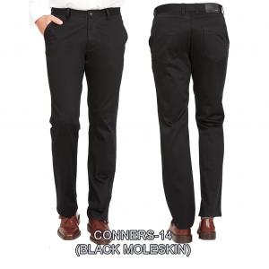 Enzo denim jeans Black flat front conners 14