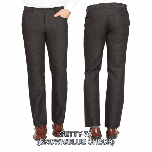 Enzo denim jeans brown getty 7a