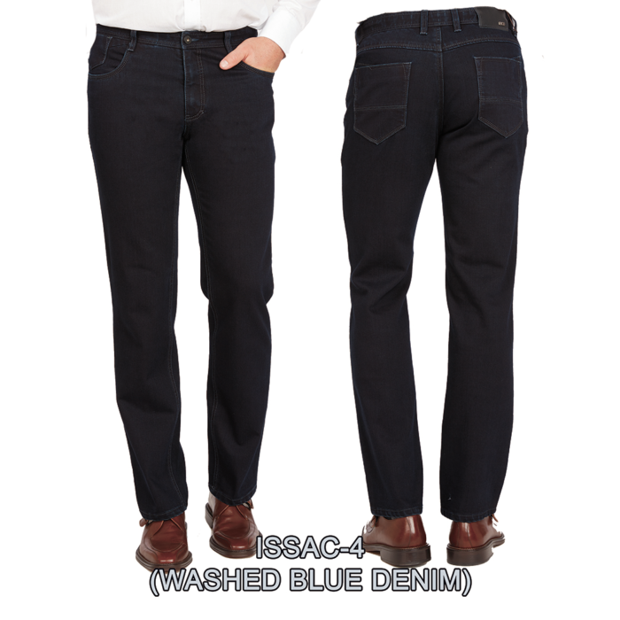 Enzo denim jeans washed blue isaac 4