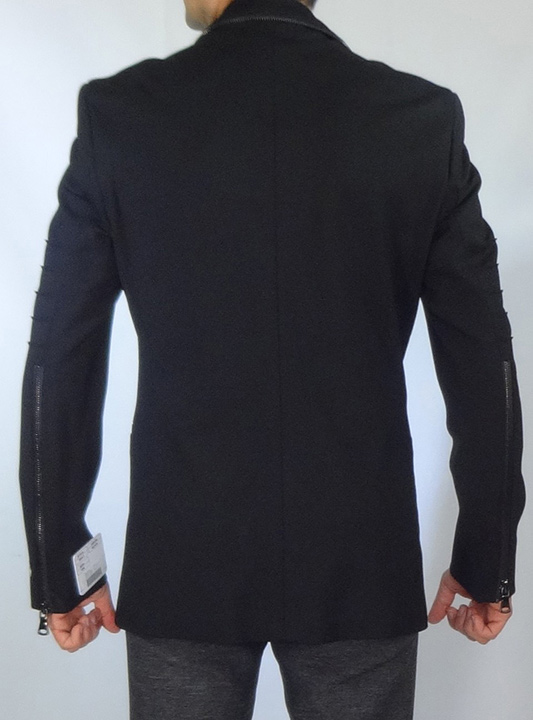 Moda Italy Giovanni Testi Zipper Jacket back image