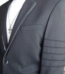Moda Italy Giovanni Testi Zipper Jacket side image