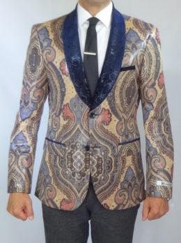 Giovanni Testi snake skin print jacket front view high fashion blazer