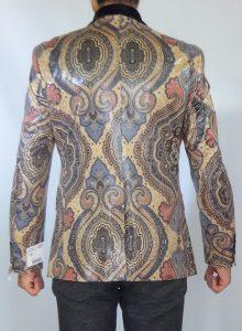 Giovanni Testi snake skin print jacket back view high fashion blazer