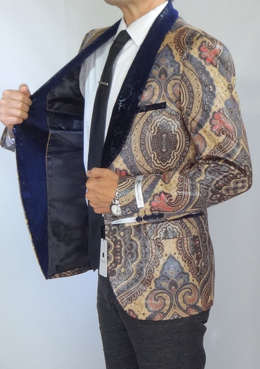 Giovanni Testi snake skin print jacket high fashion blazer