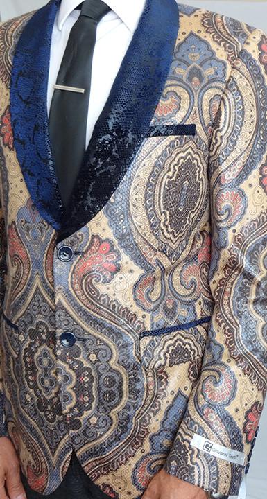 Giovanni Testi snake skin print jacket front image