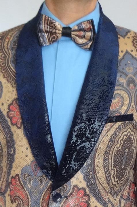 Giovanni Testi snake skin print jacket front view