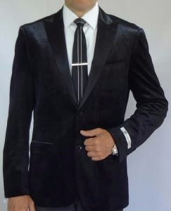 Giovanni Testi black sports jacket 306 front full view