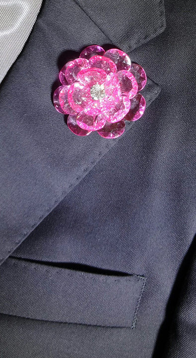 Lapel Crystal flower pin