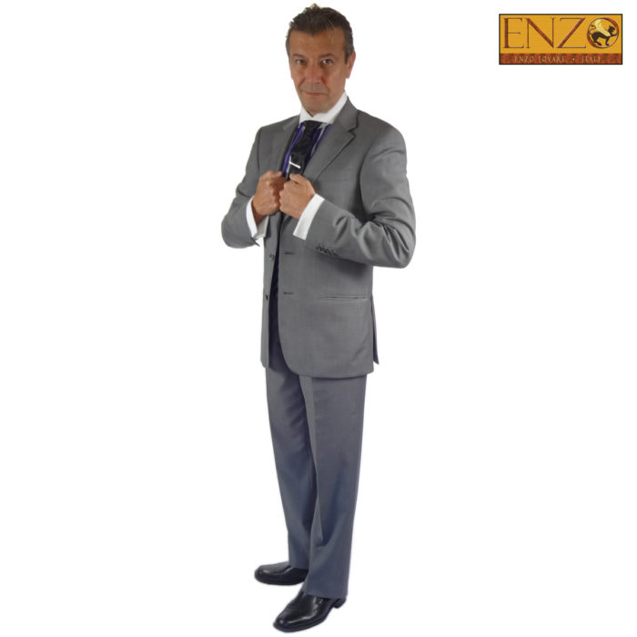 Enzo super 150's wool suits