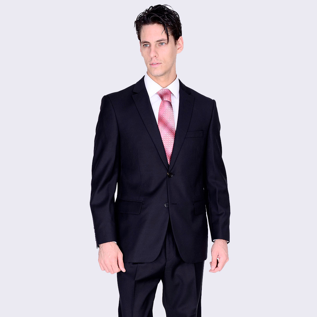 98a9973b Mantoni 2-Button Slim or Modern Fit in Black or Gray in CA, NY, NJ ...
