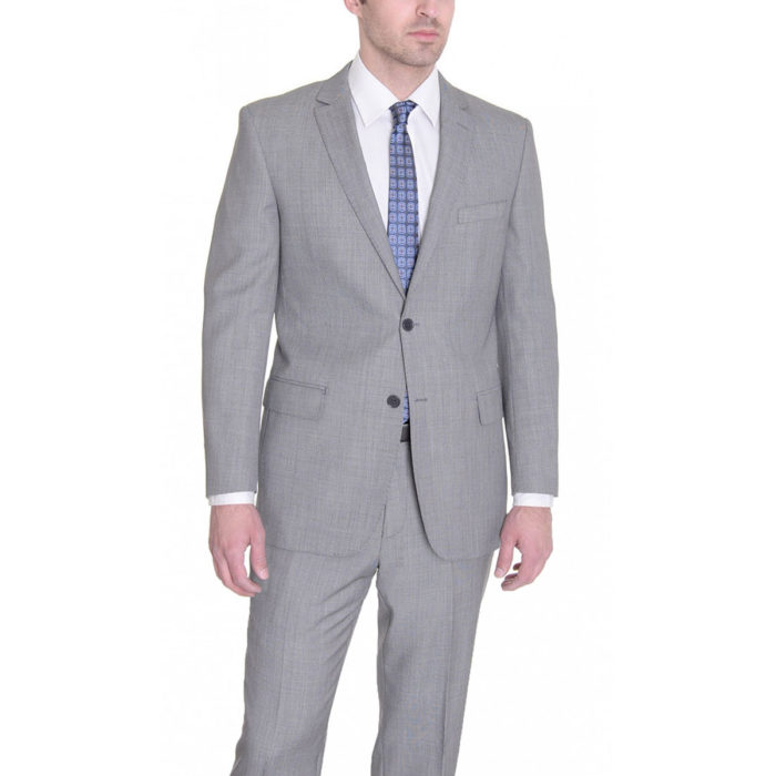 Mantoni slim fit suit Moda Italy wool