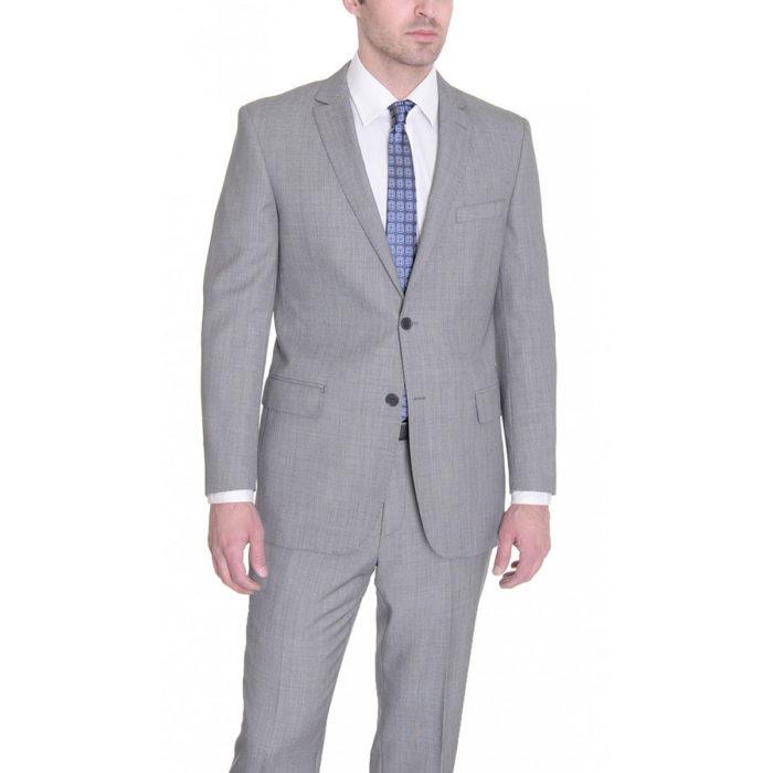 Mantoni slim fit suit Moda Italy wool