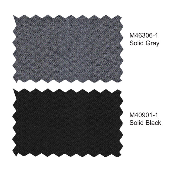 Mantoni black and medium gray fabrics