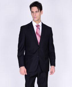 Mantoni two button business suit black