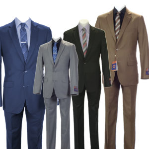 Carlo Lusso Poly Rayon business 4 suits package