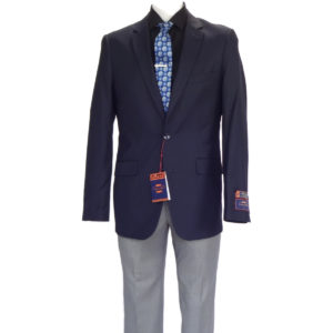 Carlo Lusso Poly Rayon business Gray Navy Mix