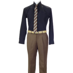 Carlo Lusso Poly Rayon business Brown Trouser
