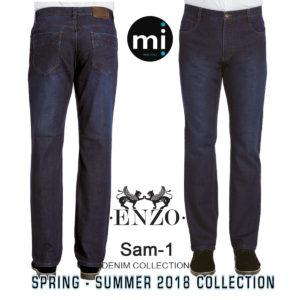 Enzo denim blue jeans 100% cotton