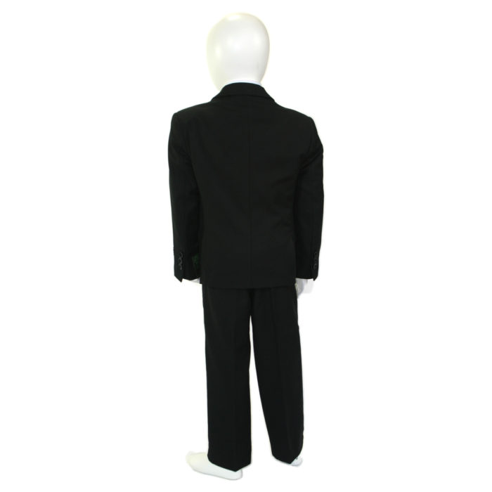 kids suits black tuxedos back view