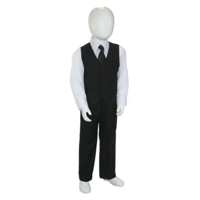 kids suits black white shirt