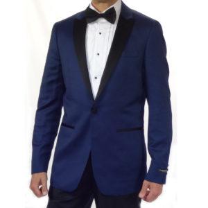 Navy Tuxedo on button black pants