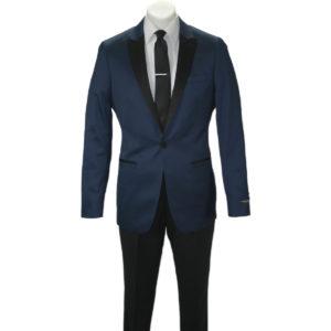 Blue on Black one button tuxedo
