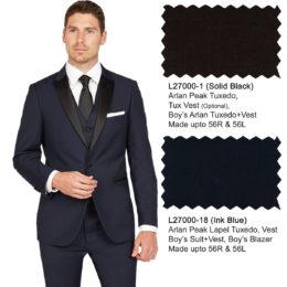 arlan tuxedo black white blue