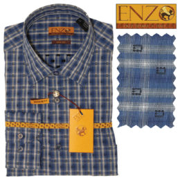 Enzo contemporary Men sport Shirt 100% Cotton