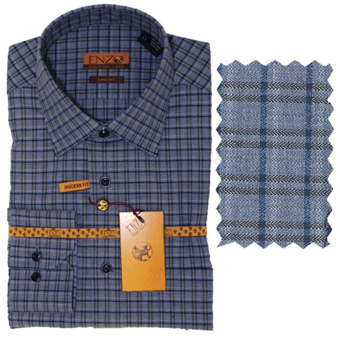 Enzo contemporary Men sports Shirt 100% Cotton