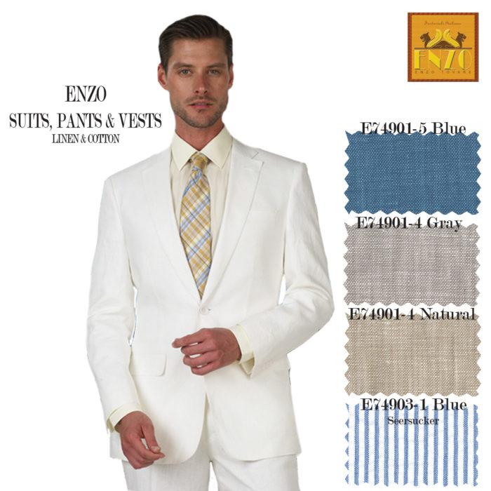 Enzo Linen & Cotton suits