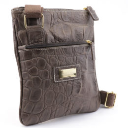 Messenger Bag Made in Italy Leather
