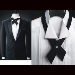 Black Bow Tie Cross formal Look