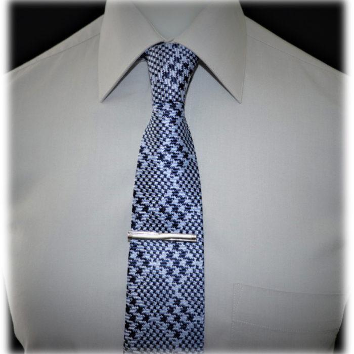 "Italian handmade silk 3"" Check square Tie"
