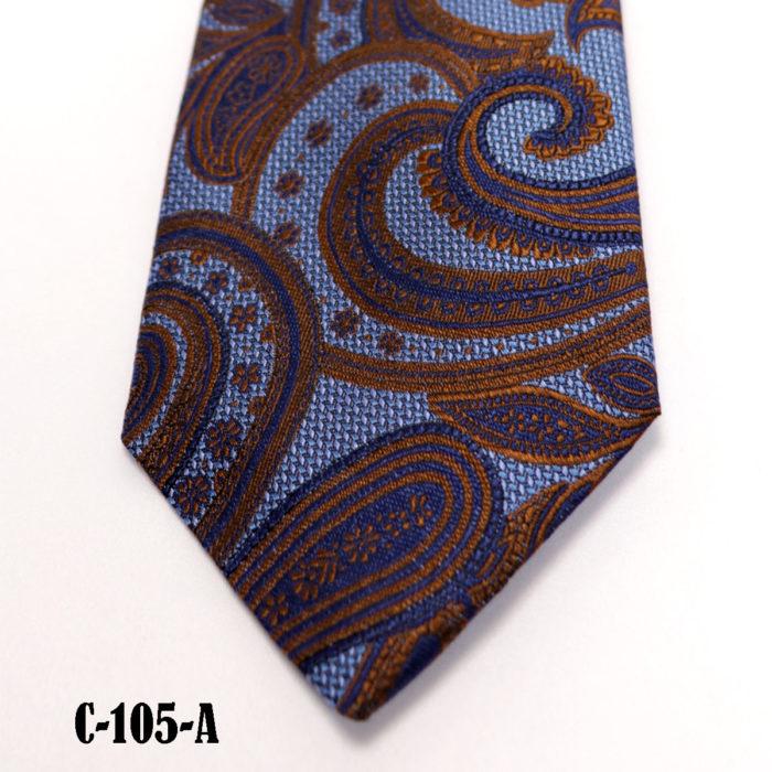 Silk Paisley neck tie C105A
