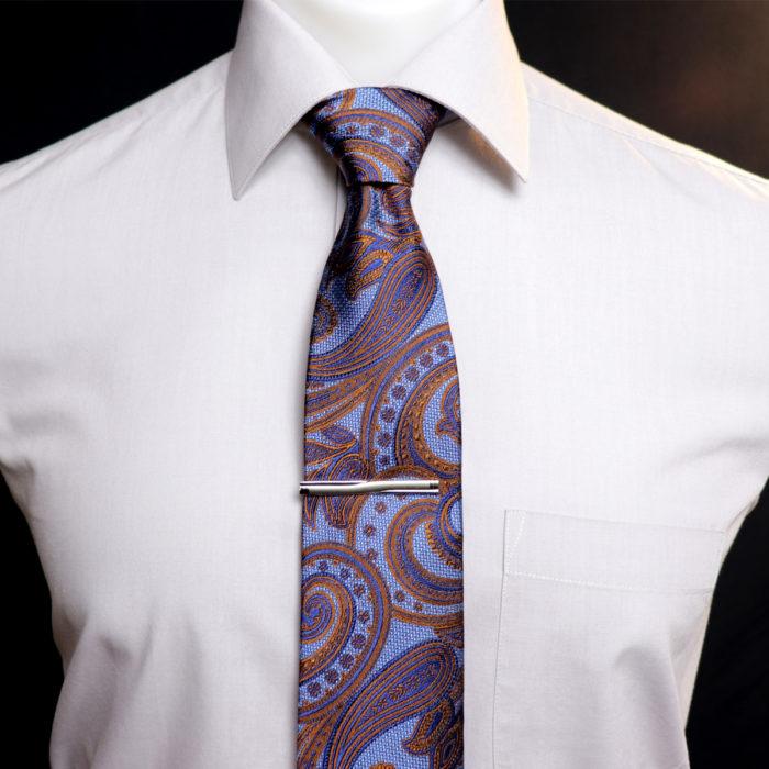 Silk Paisley neck tie C105