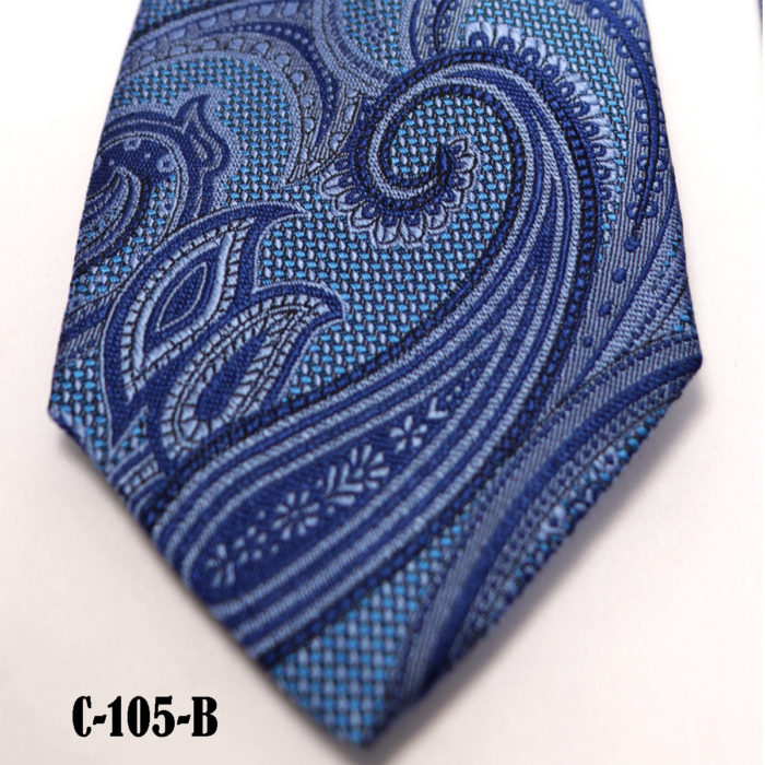 Silk Paisley neck tie C105B
