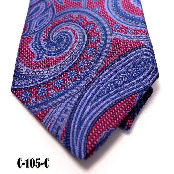 Silk Paisley neck tie C105C