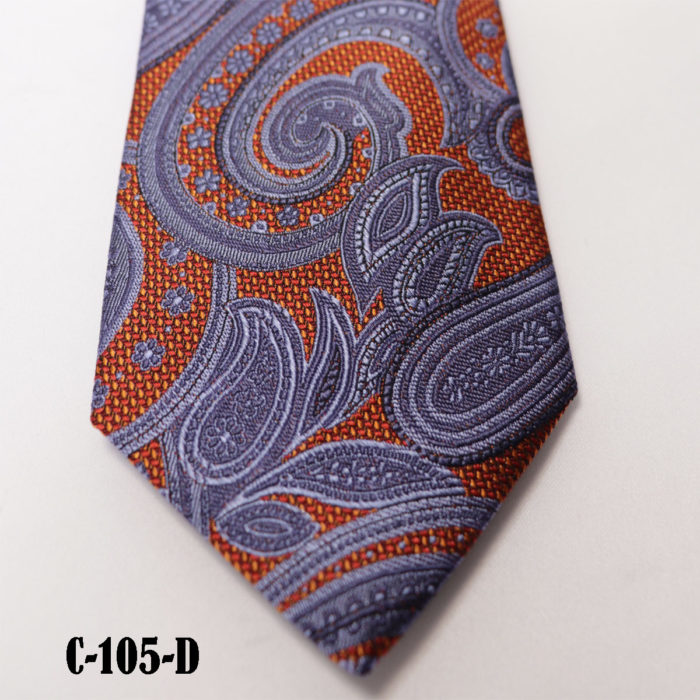 Silk Paisley neck tie C105D
