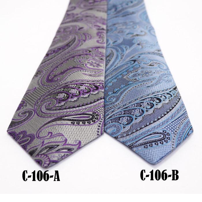 Silk Paisley neck tie C106