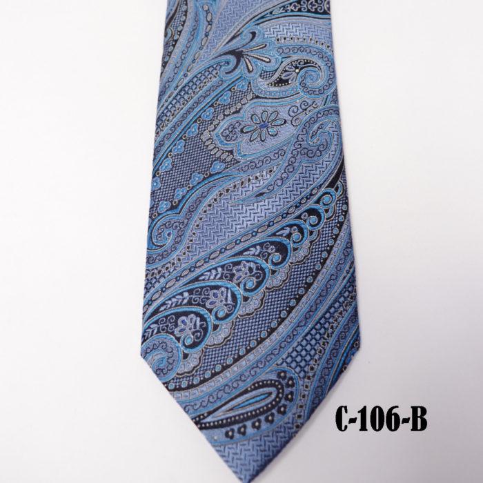 Silk Paisley neck tie C106B