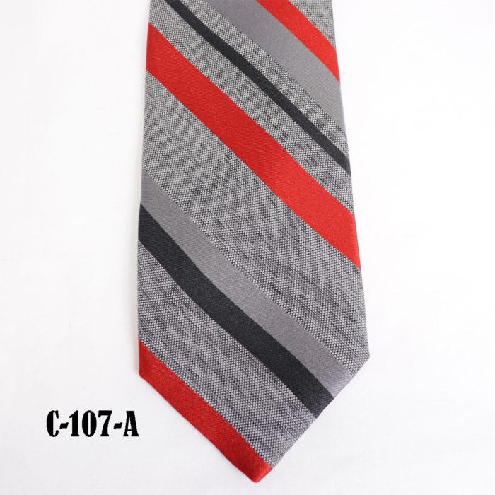 Silk stripe Italian handmade Tie C107A