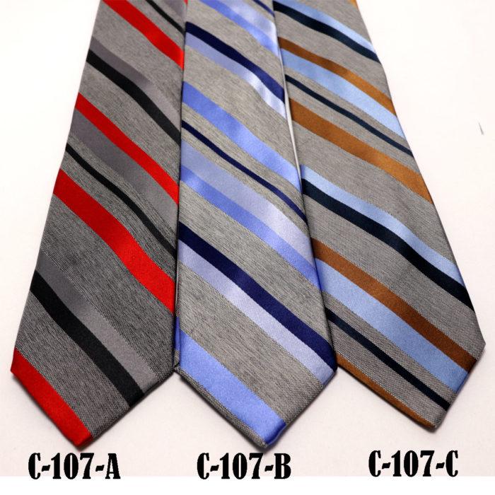 Silk stripe Italian handmade Tie C107