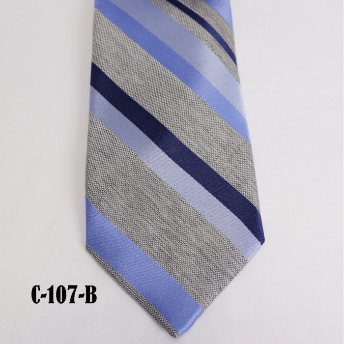 Silk stripe Italian handmade Tie C107B
